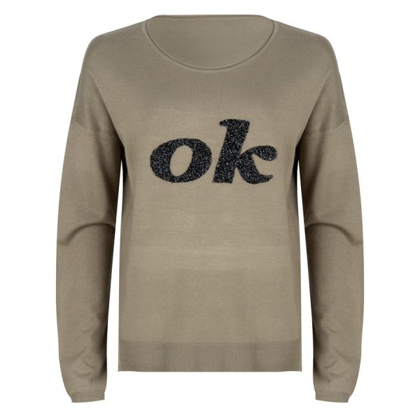 "Sweater sequins ""OK"""