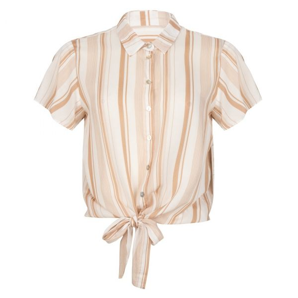 Blouse striped knot
