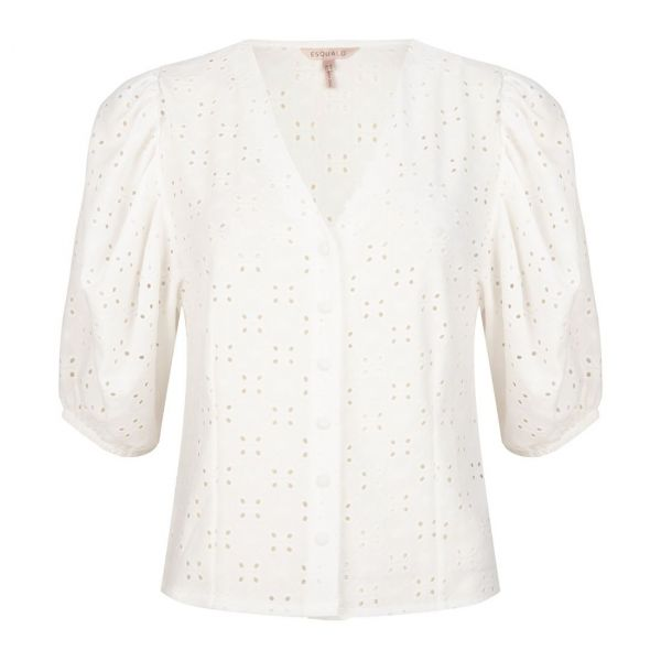 Top broderie puff