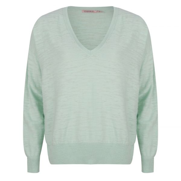 Sweater slub V-neck