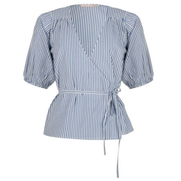 Blouse overlap stripes