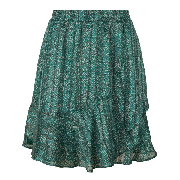 Skirt ruffle wheat print