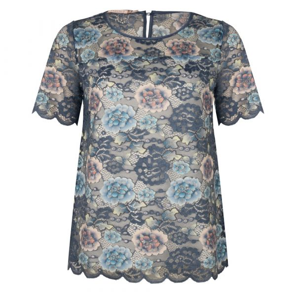 Top printed lace