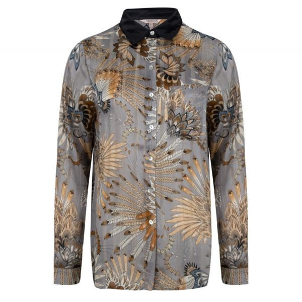 Blouse feather flower