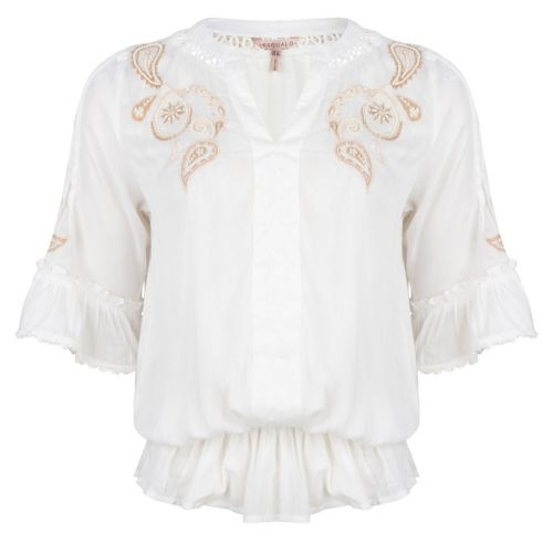 Blouse lace embroidery