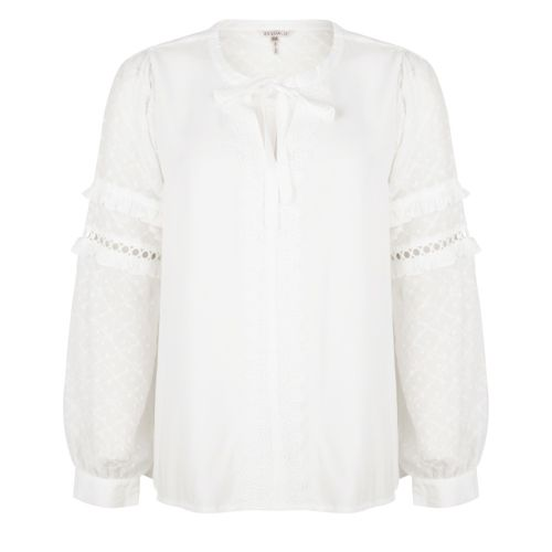 Blouse lace plumetis sleeve