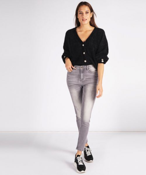 Trousers jeans high-rise