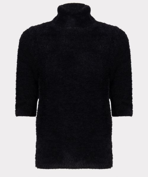 Sweater hairy col
