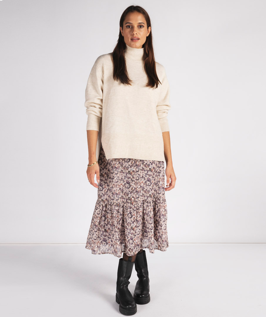 Skirt lilac floral